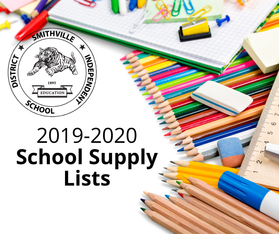 2019-2020 School Supply Lists