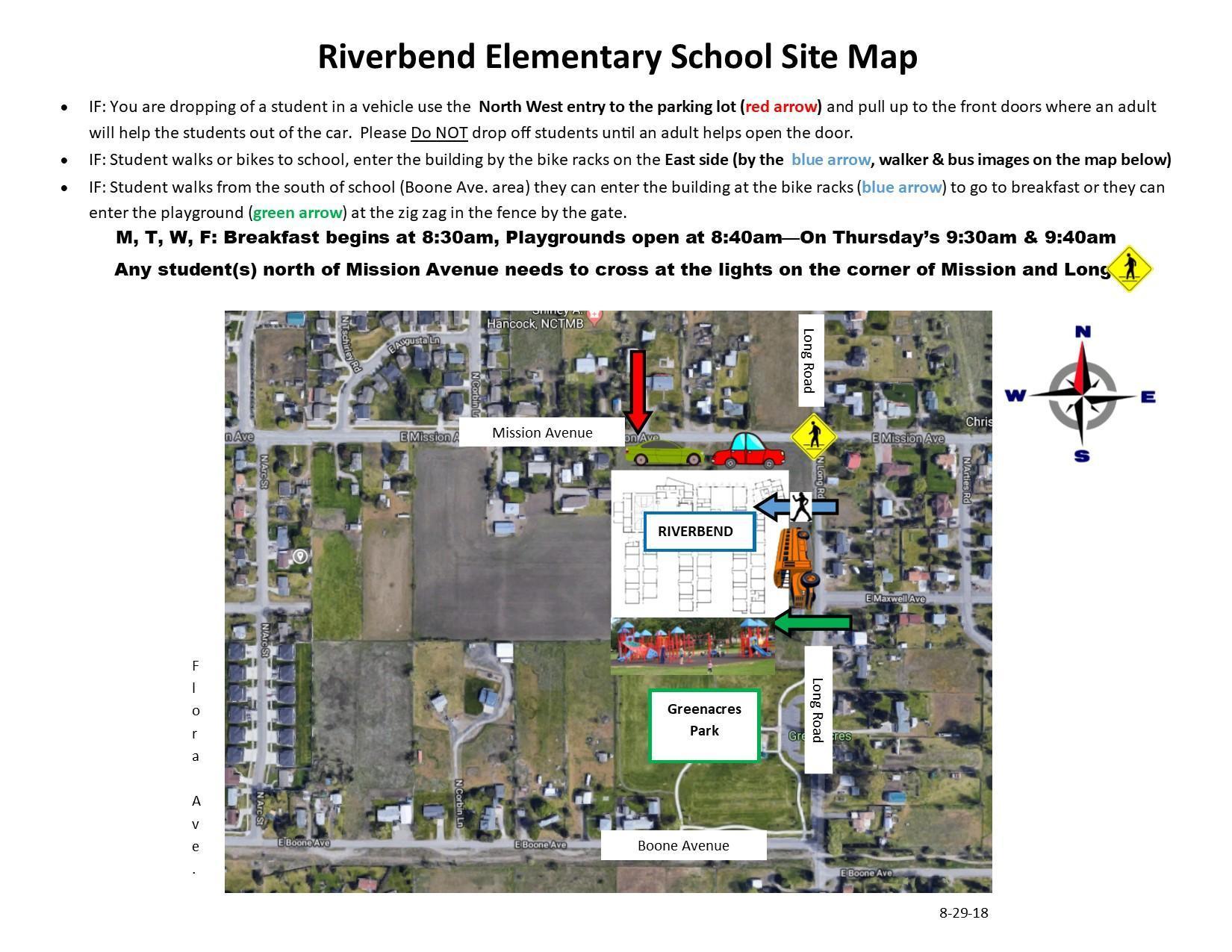 Riverbend Site Map