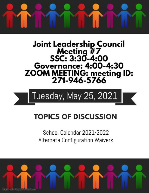 Join Us for our Joint Leadership Council  Meeting #7 Featured Photo