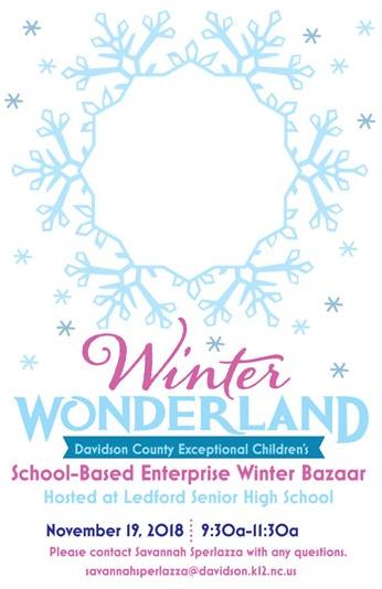 Exceptional Children's Winter Bazaar -  November 19th Featured Photo