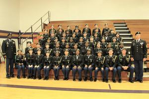 Pictured is the B-L High School Panther Battalion.  The JROTC is led by First Sergeant Tim Covington and Colonel Jonathan Robinson.
