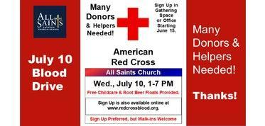 July Blood Drive Featured Photo