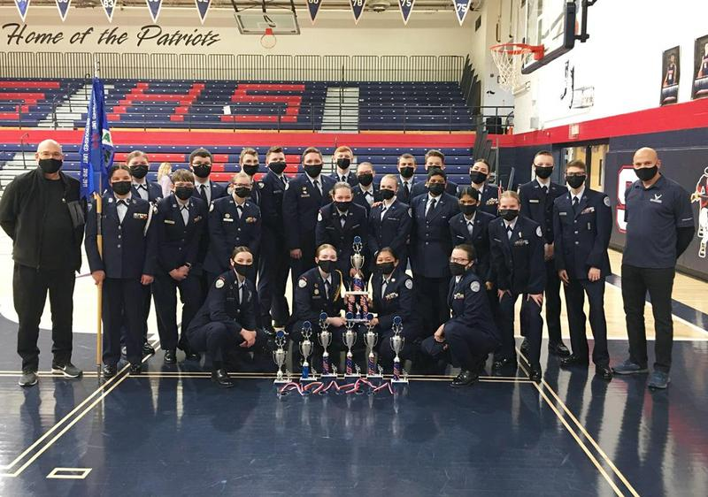 The Pine-Richland/Mars Area U.S. Air Force JROTC Drill Teams competed in the Parkersburg South JROTC (Junior Reserve Officers Training Corp) Drill Competition