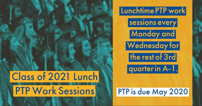 Class of 2021 Lunch PTP Work Sessions Featured Photo