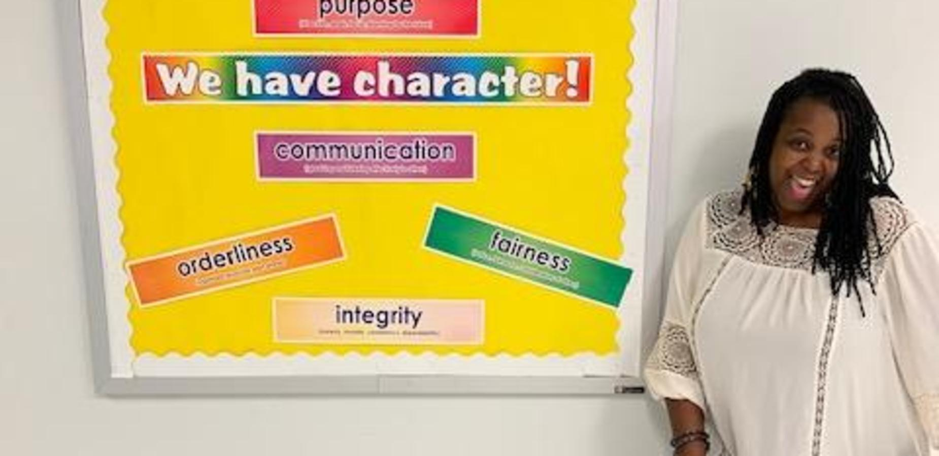 Ms. Gratic is excited about character building!