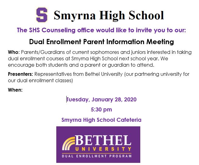 Dual Enrollment Parent Information Meeting Thumbnail Image