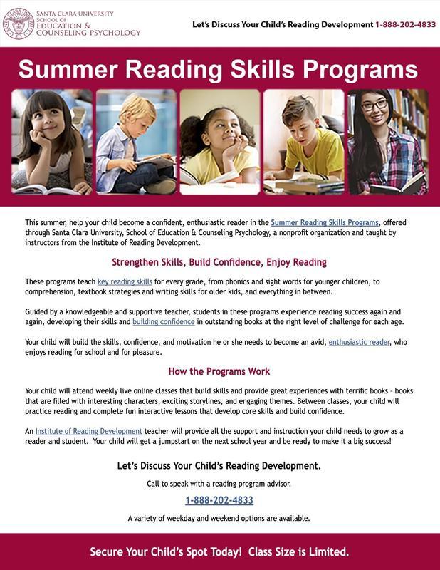 Santa Clara University Summer Reading