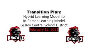 Le Roy CSD Transition Plan