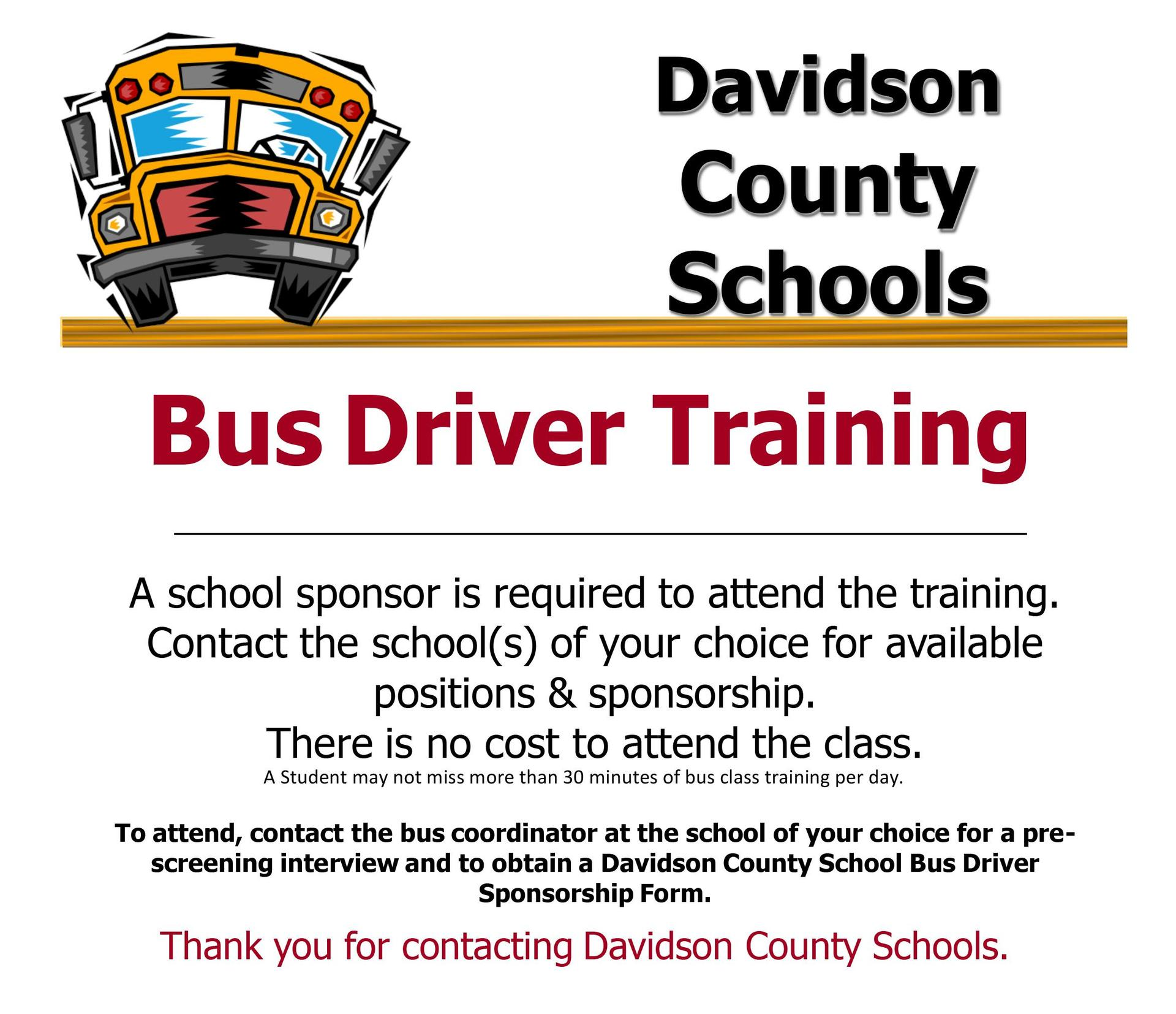 Bus Driver Training