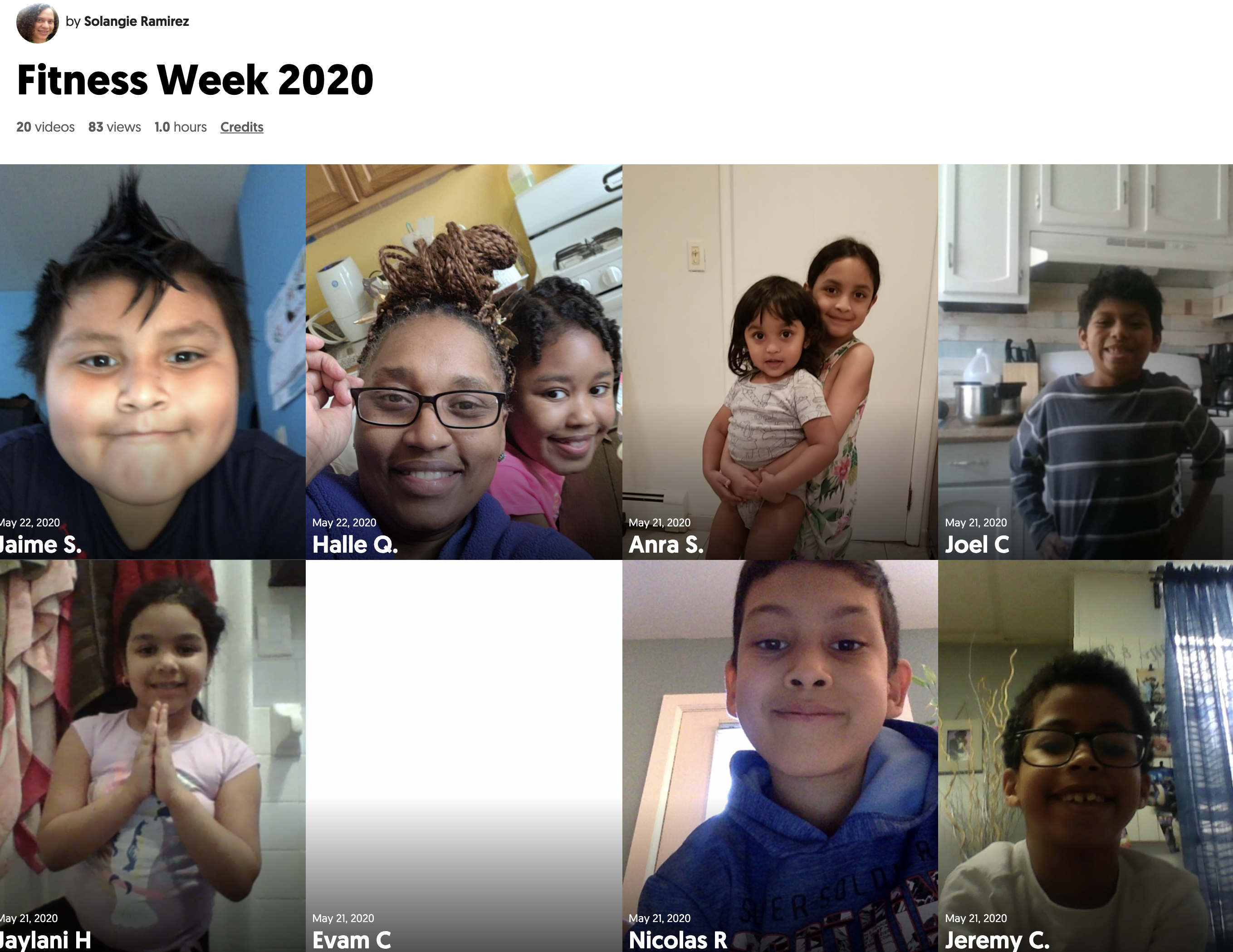 Physical Fitness Week Mixtape - Ms. Ramirez, Grade 2, Room 209
