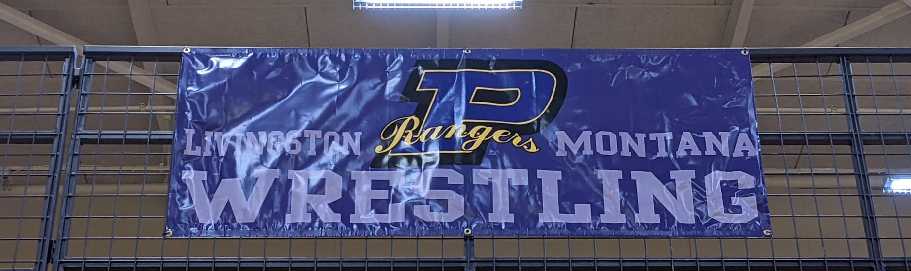 Rangers Wrestling Banner