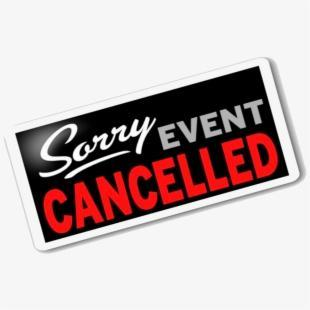 Sorry Event Cancelled Clip Art