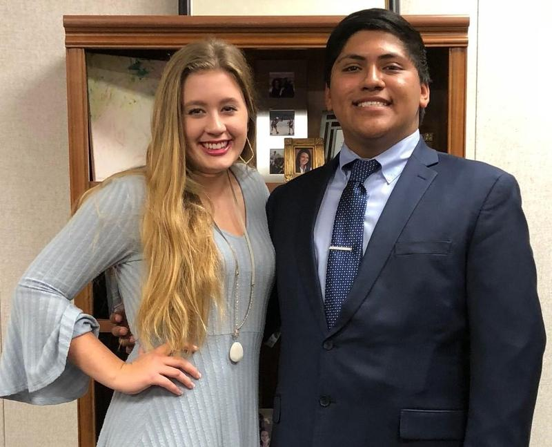 Students of the Month Emily Smith, Andrew Gonazales