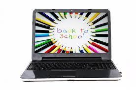 clipart of laptop that says back to school on screen