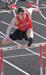 Colby Dowdy jumping a hurdle