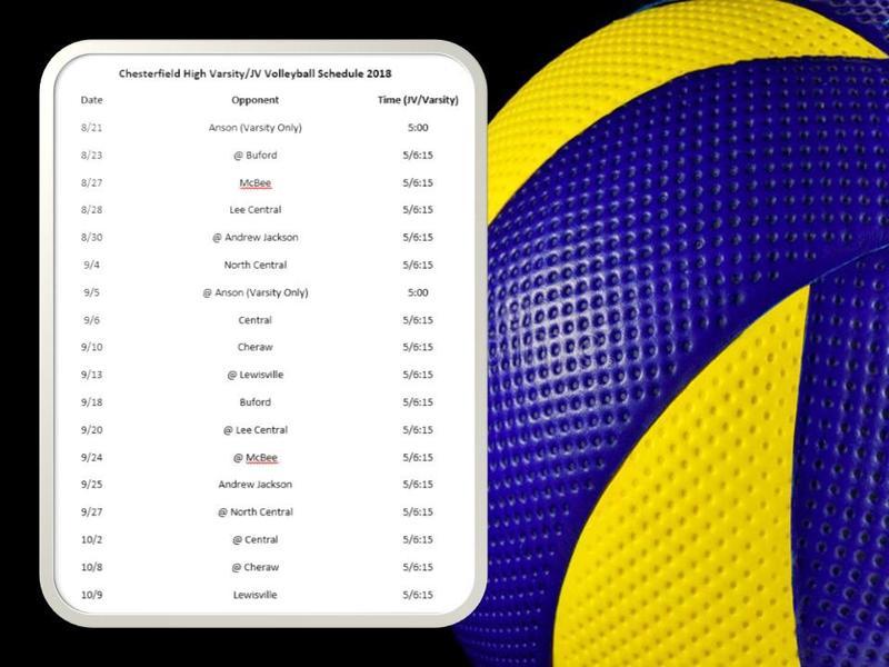 2018-19 Volleyball Schedule Featured Photo