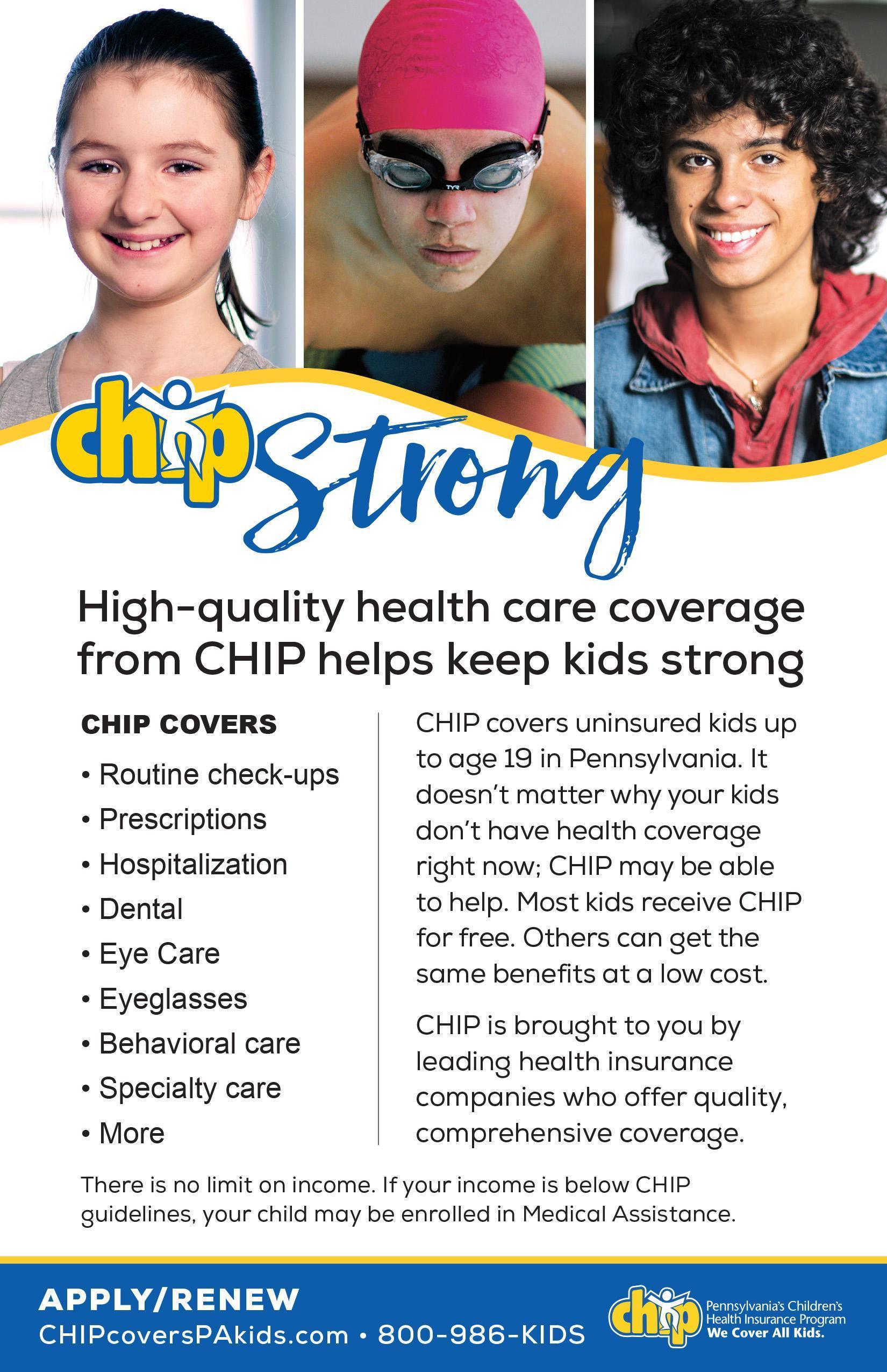 Children's Health Insurance Program (CHIP) flyer (English)