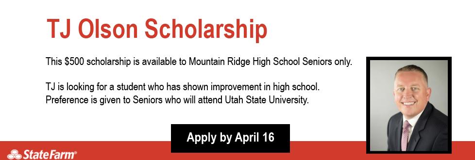 TJ Olson State Farm Insurance Scholarship