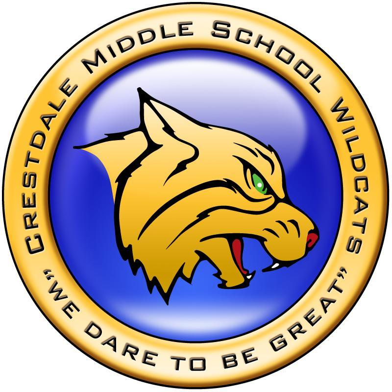 Crestdale Middle School logo -