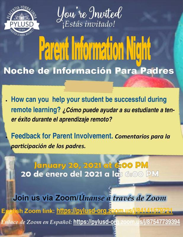 Parent Info Flyer