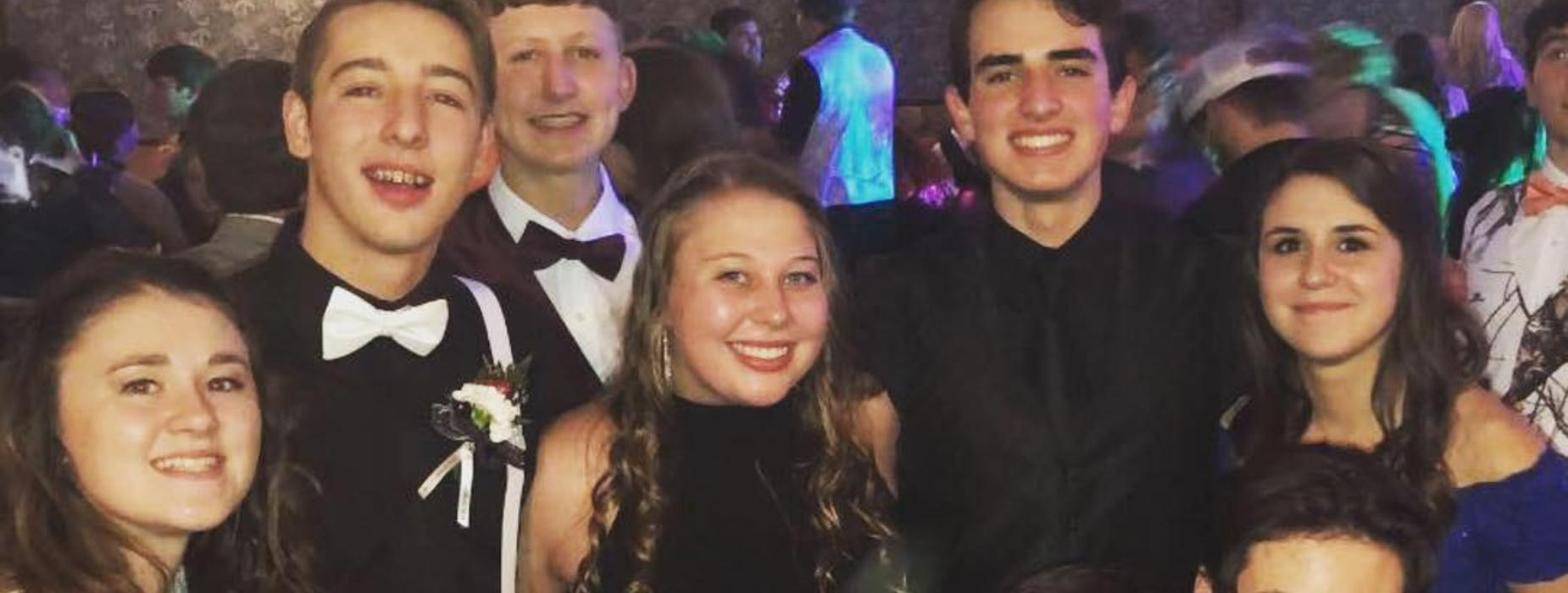 Students at a school dance