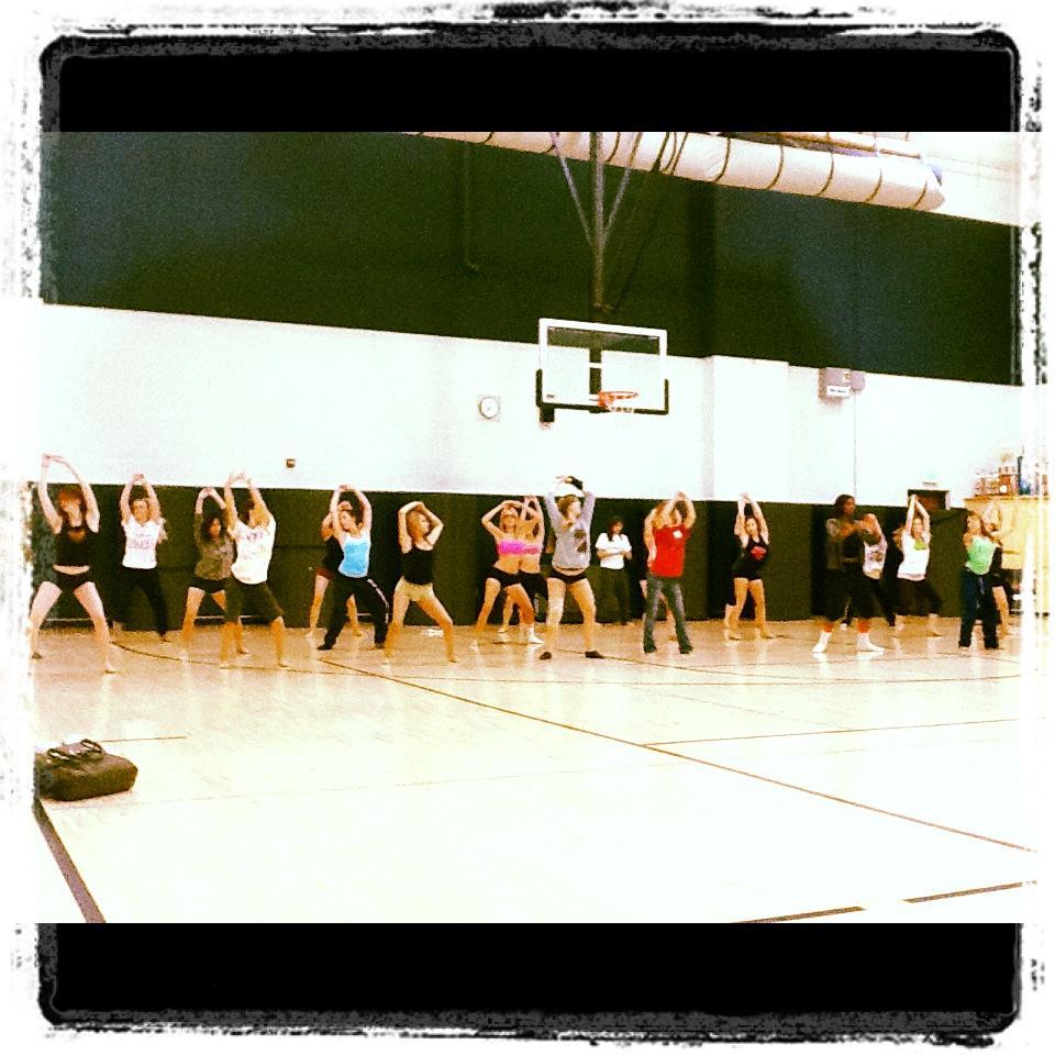Dance team rehearsals 2012