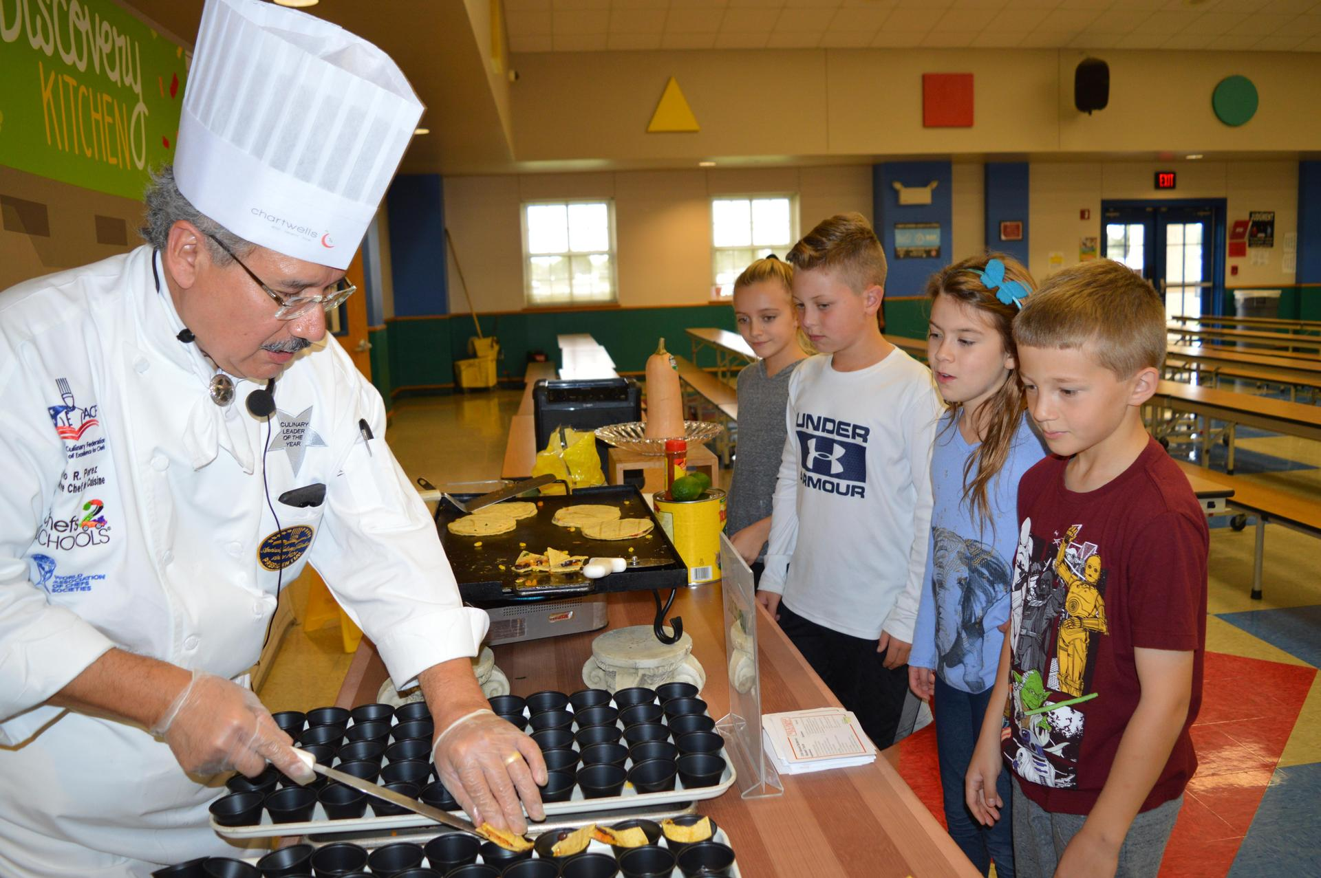 Chef Mario cooking at HLES
