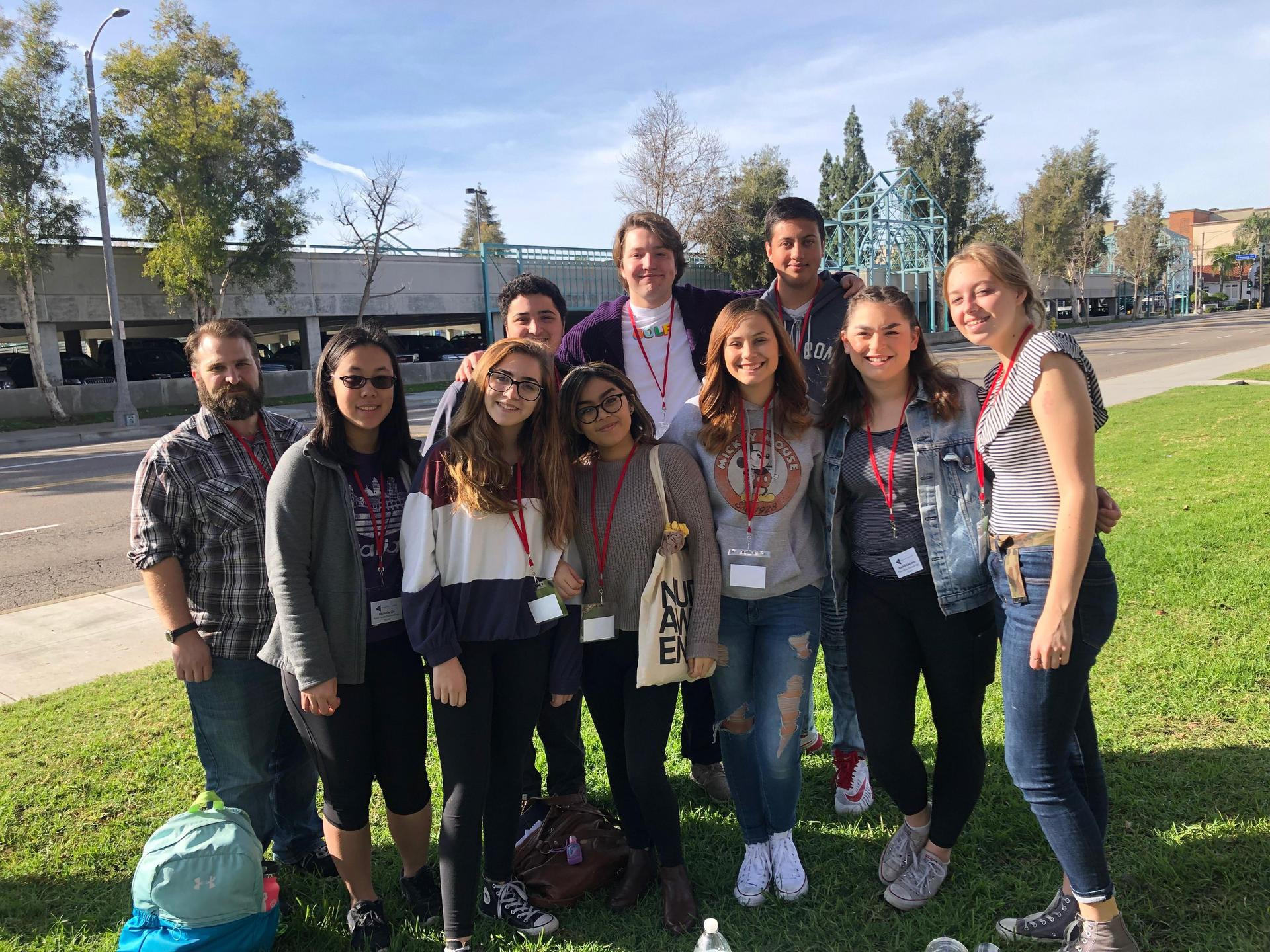 Mr Cohen with students at the CETA 2019 Student Festival