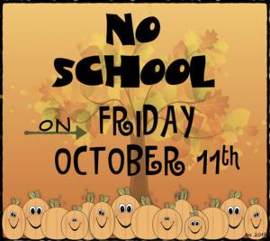 No School October 11 2019