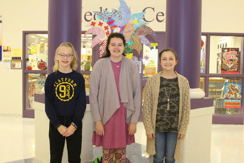 Three seventh grade students from B-L Middle School have been named as the VFW Essay Contest Winners for 2018