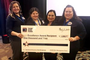 Pictured left to right are: Cynthia Garza-Ocaña, Sylvia Cruz (Risk Management Director), Yvonne Salas, and Veronica Garcia.