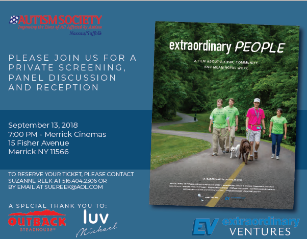 Flyer for Extraordinary People film screening
