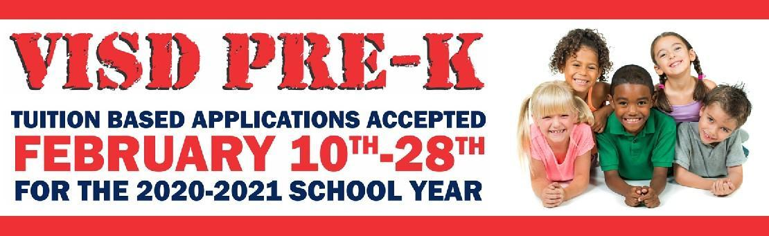 visd pre-k tuition based applications available february 10
