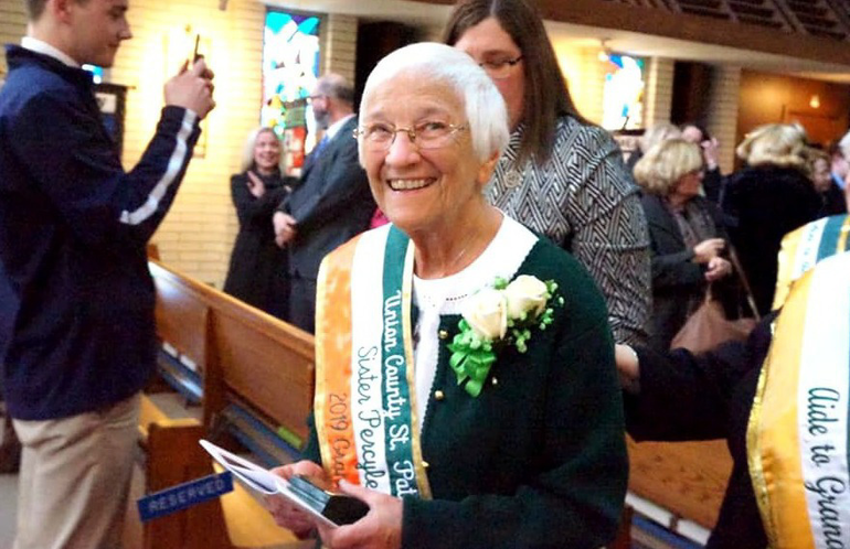 UC is planning festivities for the Union County St. Patrick's Day Parade where Principal Sister Percylee Hart, RSM, will serve as Grand Marshal Thumbnail Image