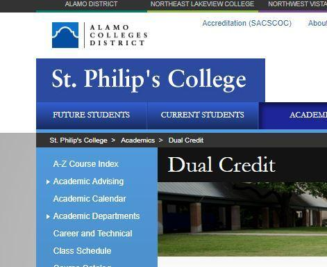 St. Philip's College Screenshot