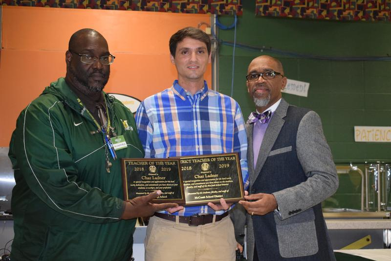 McComb School District Recognizes Chaz Ladner as McComb High School Teacher of the Year and the District Teacher of the Year
