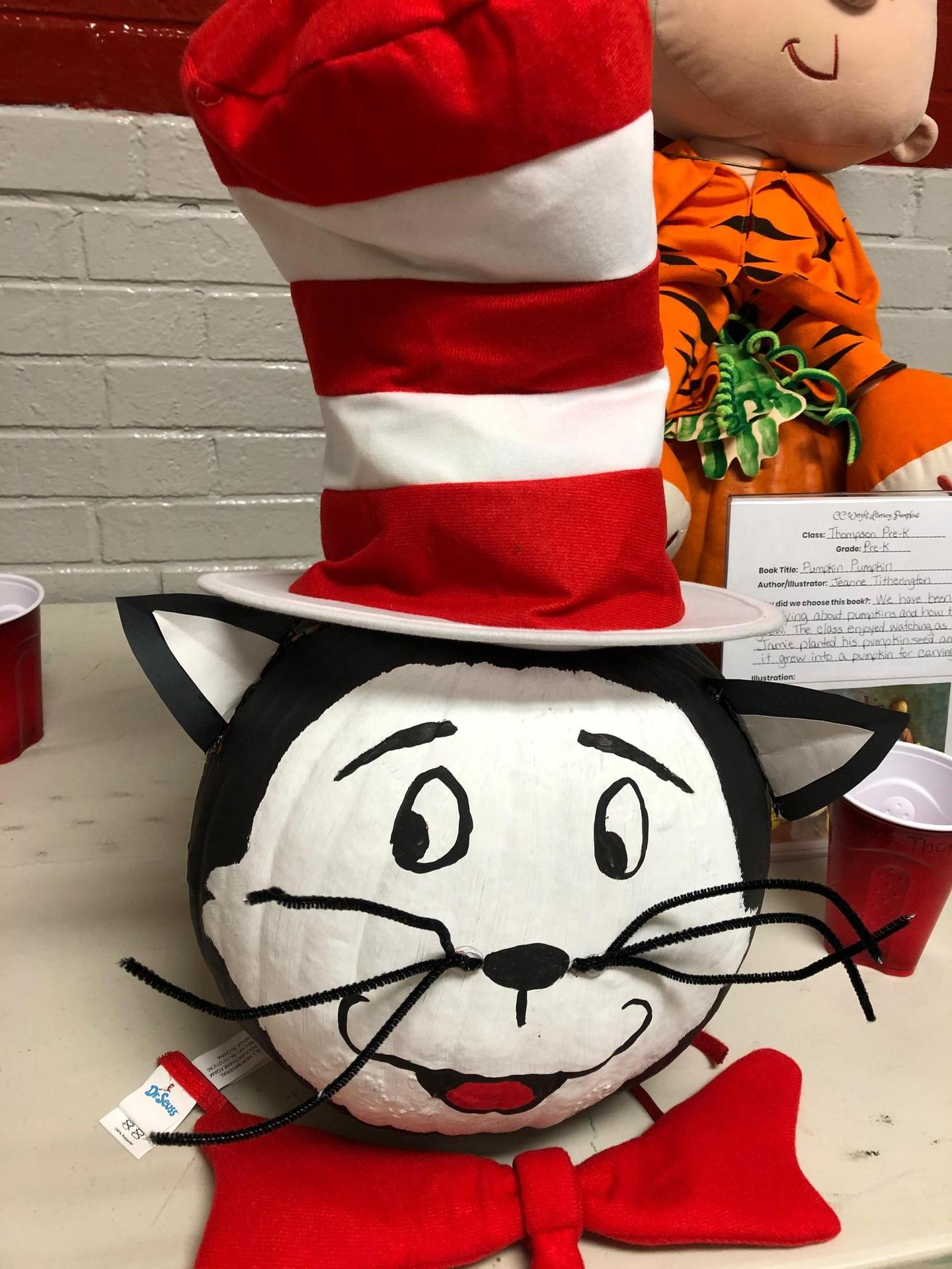 Cat in the Hat pumpkin