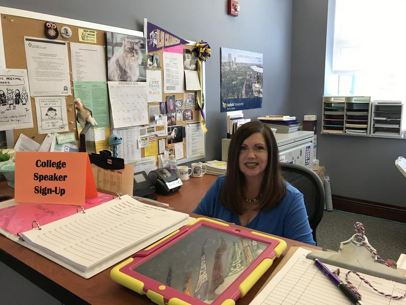 photo of Mrs. Kelly Pontiere at work in the Counseling Center