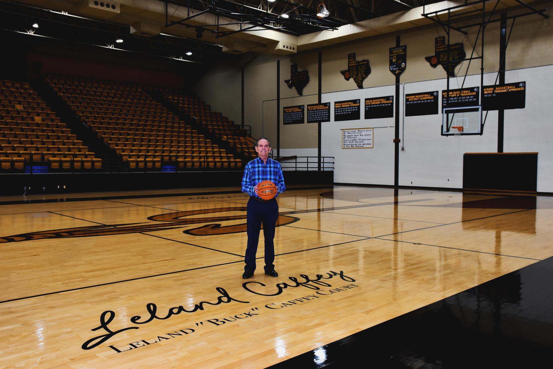 Coach Caffey on court
