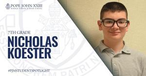 Nicholas Koester PJMS Student Spotlight