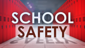 A picture with school safety written on