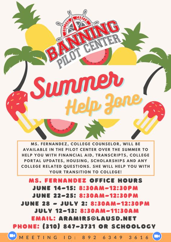 Summer Help Zone at Banning High Pilot Center Featured Photo