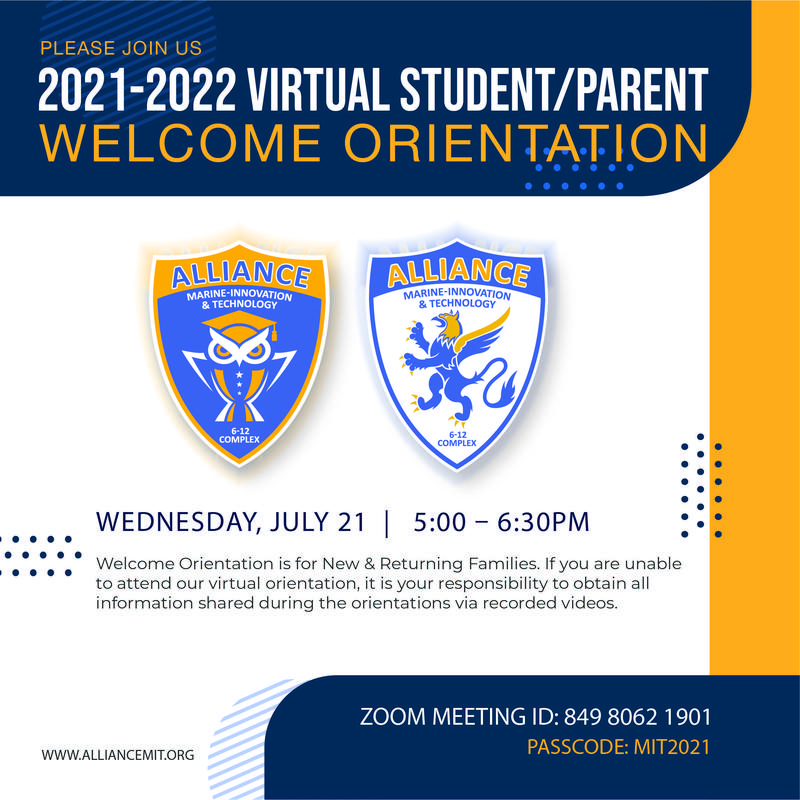 Welcome Orientation for New & Returning Families 2021-2022 Thumbnail Image