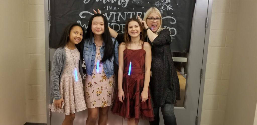 Students at the Winter Wonderland Dance 2019