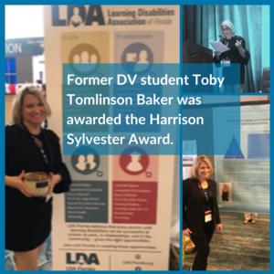 DV Alumna Toby Tomlinson Baker received the Harrison Sylvester Award