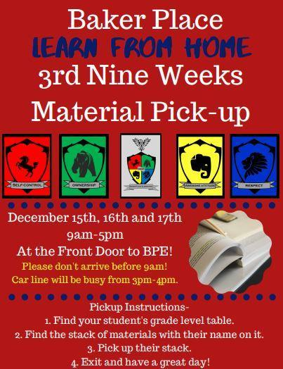 3rd Nine Weeks LFH Material Pickup! Featured Photo
