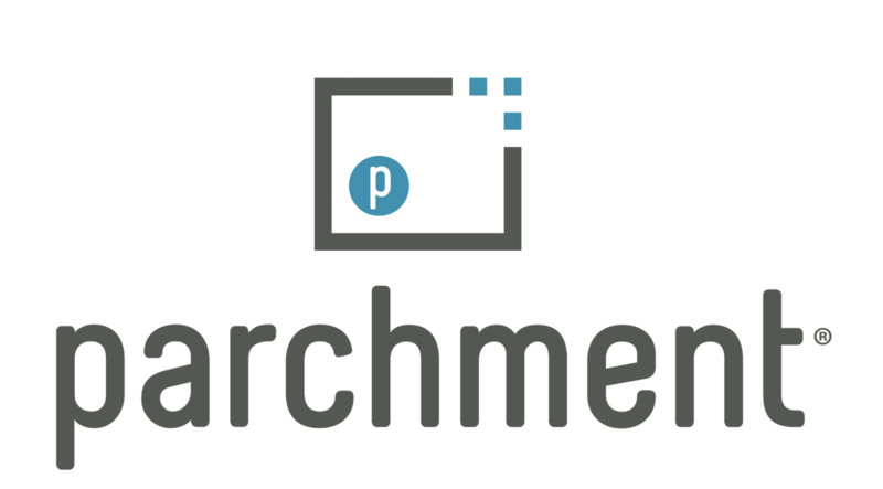 Logo with the word 'Parchment'