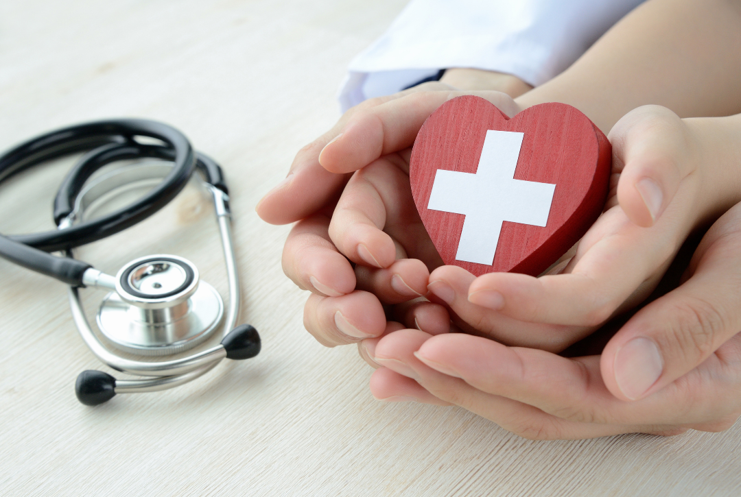 red cross and stethoscope