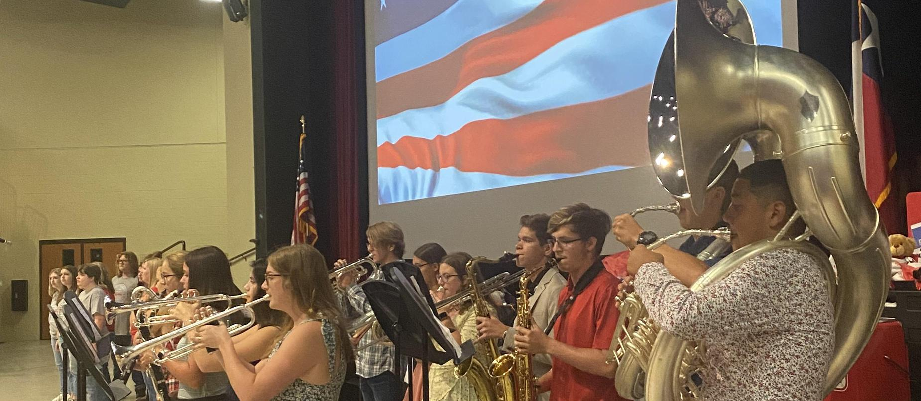 National Anthem - Performed by LHS Band and Choir