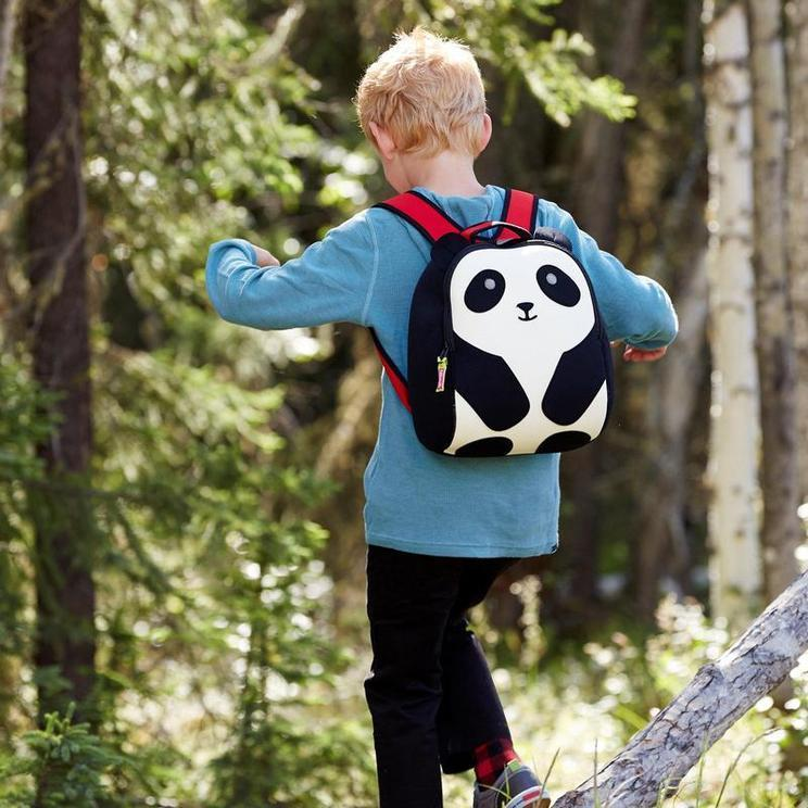 Student with Panda Backpack